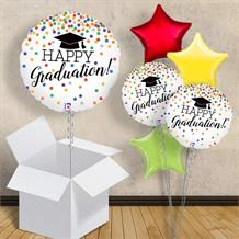 "Happy Graduation Confetti Holographic 18"" Balloon in a Box"