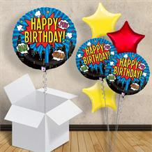 "Superhero Happy Birthday 18"" Balloon in a Box"