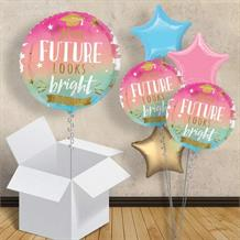 "Graduation Future Looks Bright Inflated 18"" Foil Balloon in a Box"