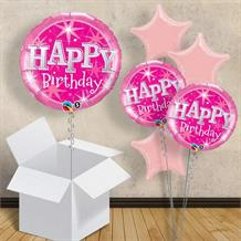 "Pink Sparkle Birthday 18"" Balloon in a Box"