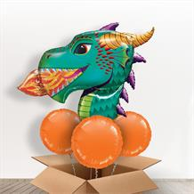 Fire Dragon Head Giant Shaped Balloon in a Box Gift