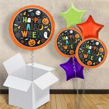 "Happy Halloween | Pumpkin | Ghosts 18"" Balloon in a Box"