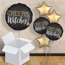 "Cheers Witches | Witch Please | Halloween 18"" Balloon in a Box"
