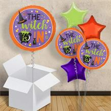 "The Witch Is In | Halloween 18"" Balloon in a Box"