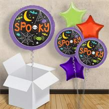 "Spooky Web and Spiders | Halloween 18"" Balloon in a Box"
