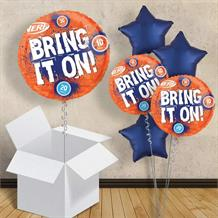 "Nerf Bring it On Inflated 18"" Foil Balloon in a Box"