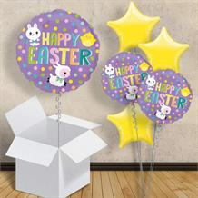 "Happy Easter Chick and Bunny 18"" Balloon in a Box"