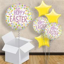 "Hoppy Easter | Bunny Ears 18"" Balloon in a Box"