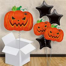 "Halloween Pumpkin 18"" Balloon in a Box"