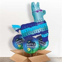 Battle Royal | Gaming Llama Giant Shaped Balloon in a Box Gift
