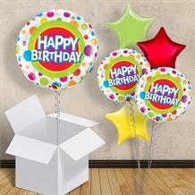 "Happy Birthday Dots 18"" Balloon in a Box"