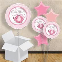 "Pink Elephant | Baby Shower 18"" Balloon in a Box"