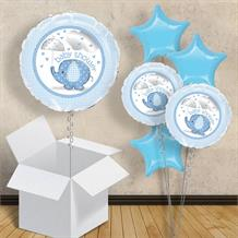 "Blue Elephant | Baby Shower 18"" Balloon in a Box"