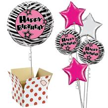 "Zebra Passion 18"" Balloon in a Box"