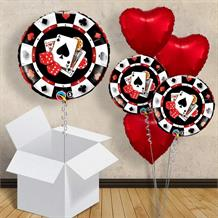 "Casino $ 18"" Balloon in a Box"