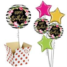 "Wild Luau Happy Birthday 18"" Balloon in a Box"
