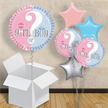 "Girl or Boy Gender Reveal | Baby Shower 18"" Balloon in a Box"