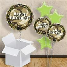 "Military Camouflage Happy Birthday 18"" Balloon in a Box"