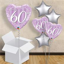 "Purple Diamond 60th Wedding Anniversary 18"" Balloon in a Box"