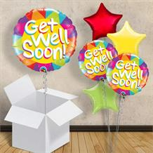 "Get Well Soon Sunshine 18"" Balloon in a Box"