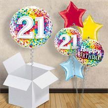 Colourful Confetti 21st Birthday 18 Balloon In A Box
