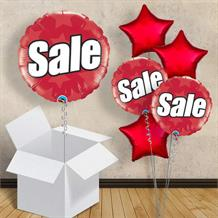 "Red Sale 18"" Balloon in a Box"