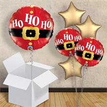 "Santa | Father Christmas | Ho Ho Ho 18"" Balloon in a Box"