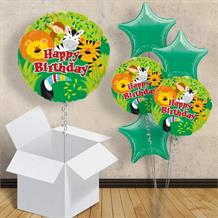 "Jungle Safari Animals Happy Birthday 18"" Balloon in a Box"
