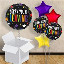 "Sorry You're Leaving Colourful Stars 18"" Balloon in a Box"