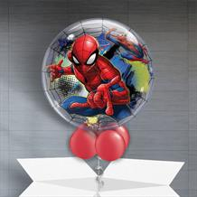"Marvel Spiderman 22"" Bubble Balloon in a Box"