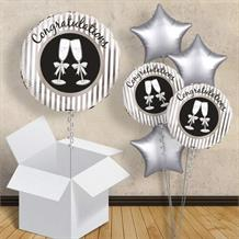 "Congratulations Champagne Glasses 18"" Balloon in a Box"
