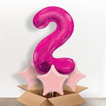Pink Giant Number 2 Balloon in a Box Gift