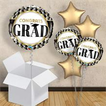 "Congrats Grad Graduation 18"" Balloon in a Box"