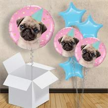 "Party Pug 18"" Balloon in a Box"