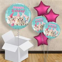 "Puppy Happy Birthday 18"" Balloon in a Box"
