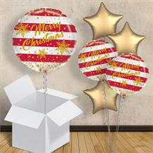 "Merry Christmas Gold Sparkle 18"" Balloon in a Box"
