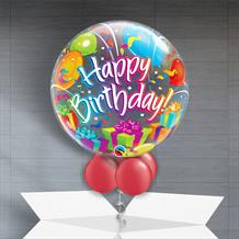 "Happy Birthday Surprise 22"" Bubble Balloon in a Box"
