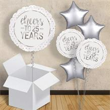 "Cheers to 25 Years Wedding Anniversary 18"" Balloon in a Box"