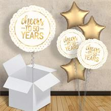 "Cheers to 50 Years Wedding Anniversary 18"" Balloon in a Box"
