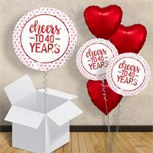 "Cheers to 40 Years Wedding Anniversary 18"" Balloon in a Box"