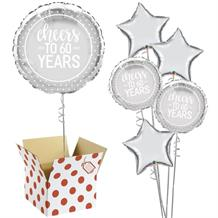 "Cheers to 60 Years Wedding Anniversary 18"" Balloon in a Box"