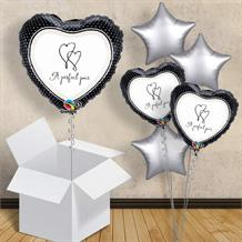 "A Perfect Pair | Wedding 18"" Balloon in a Box"