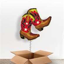 Cowboy Boots Giant Shaped Balloon in a Box Gift