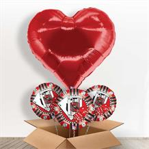 Red Heart Casino Giant Shaped Balloon in a Box Gift