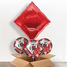 Red Diamond Casino Giant Shaped Balloon in a Box Gift