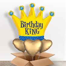 Crown Birthday King Giant Shaped Balloon in a Box Gift
