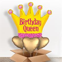 Crown Birthday Queen Giant Shaped Balloon in a Box Gift