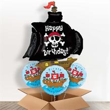 Pirate Ship Giant Shaped Balloon in a Box Gift