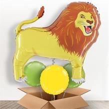 Lion Big Cat Giant Shaped Balloon in a Box Gift