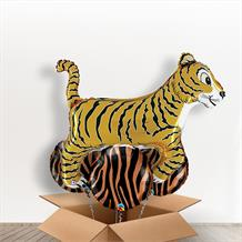 Tiger Big Cat Giant Shaped Balloon in a Box Gift